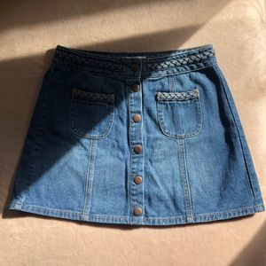Kendall & Kylie button up mini denim skirt